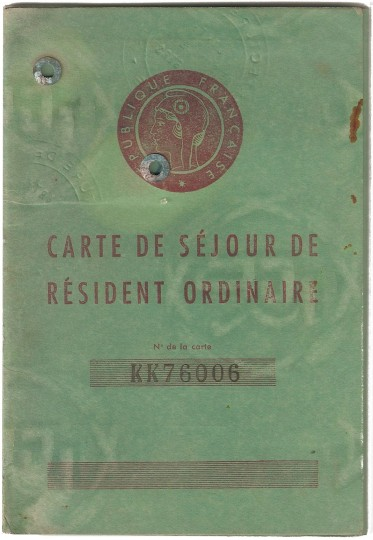 Carte de Séjour de Résident Ordinaire